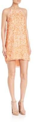Halston Paillette Slip Dress