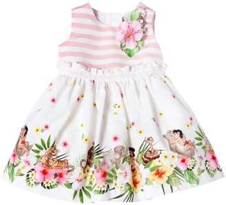 MonnaLisa Jungle Book Linen Blend Poplin Dress