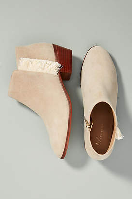 Anthropologie Fringed Booties