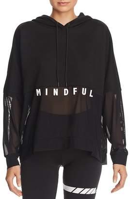 Alo Yoga Perspective Mesh Detail Hooded Sweatshirt