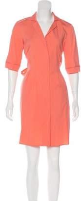 Lafayette 148 Tie-Front Knee-Length Dress