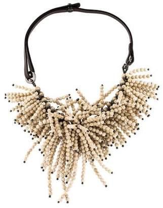 Brunello Cucinelli Riverstone Cluster Choker Necklace