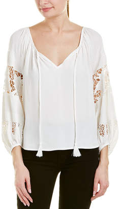 ASTR the Label Lace Sleeve Top