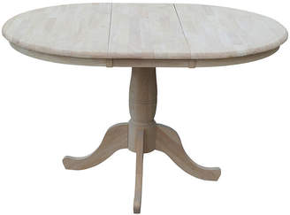 Asstd National Brand Unfinished Extension Round Wood-Top Dining Table