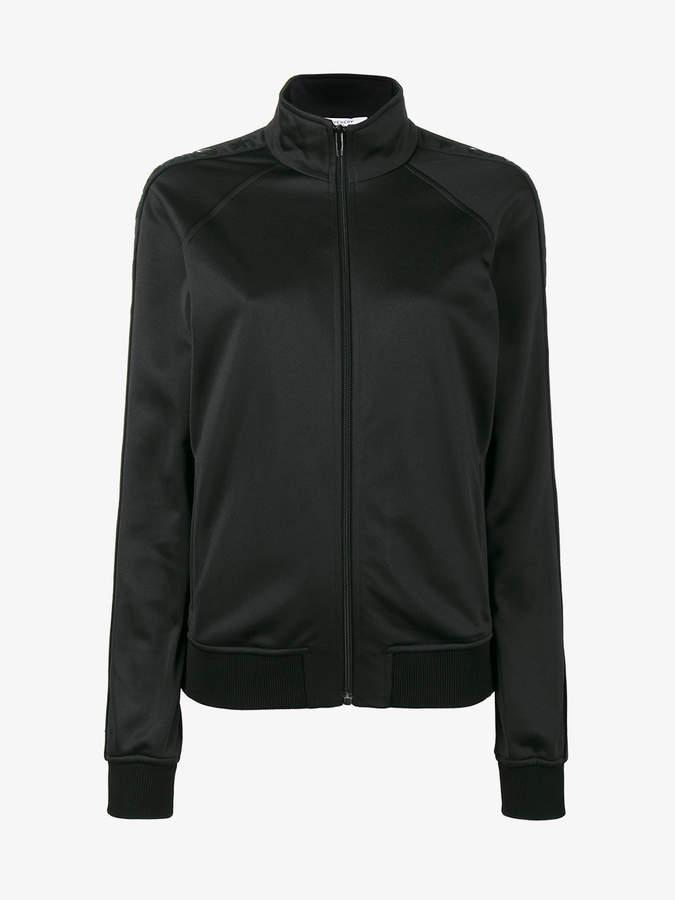 Black logo Stripe track jacket