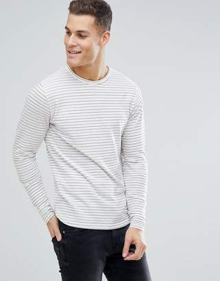 Bellfield Long Sleeve T-Shirt With Red Stripe
