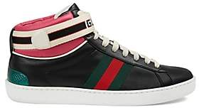 Gucci Women's New Ace Leather Sneakers - Black