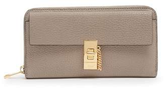 Chloé Drew Zip Around Leather Wallet - Womens - Grey