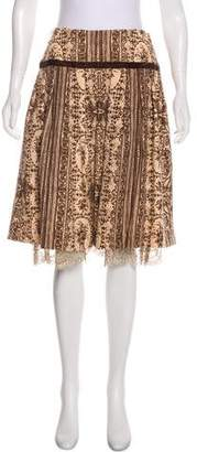 Tracy Reese Patterned Knee-Length Skirt