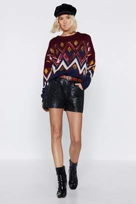 Nasty Gal Festive Feels Sequin Sweater