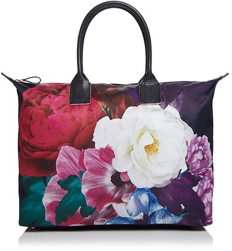 Ted Baker Paulina Blushing Bouquet Large Nylon Tote $175 thestylecure.com