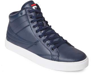 Fila Navy & White Smokescreen Mid Sneakers