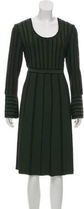 Fendi Long Sleeve Embroidered Dress