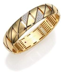 Roberto Coin Appassionata Diamond& 18K Yellow Gold Bangle Bracelet