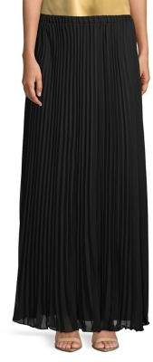 Alex Evenings Full Pleated Long A-Line Skirt