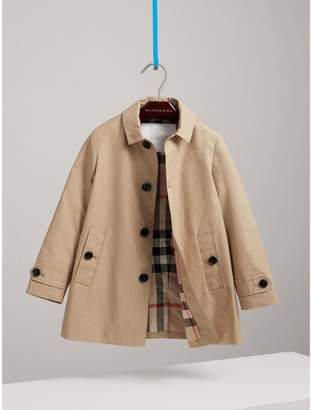 Burberry Childrens Mercerised Cotton Car Coat