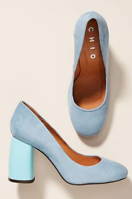 Chio Suede Block Heels