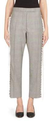 Thom Browne Glen Check Lace-Up Pants