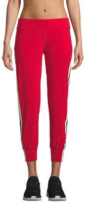 Norma Kamali Side-Stripe Ankle Jogger Pants