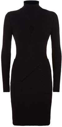 Roberto Cavalli Roll Neck Sweater Mini Dress