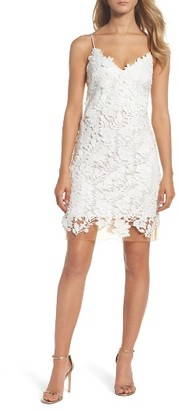 Women's Vera Wang Applique Minidress $298 thestylecure.com