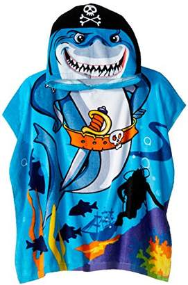 Northpoint Pirate Shark Kids Hooded Beach Towel