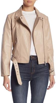 Elodie Faux Leather Moto Jacket