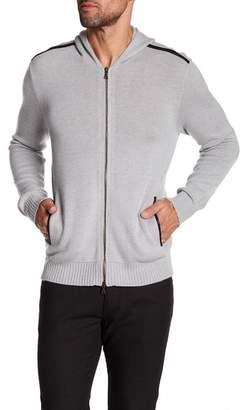 John Varvatos Collection Long Sleeve Zip Up Cashmere Hoodie