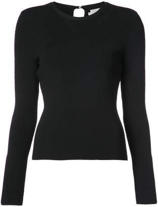 Oscar de la Renta openwork knitted top