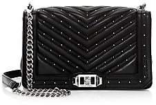 Rebecca Minkoff Women's Micro Studs Love Leather Crossbody Bag