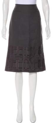 Magaschoni Embroidered Knee-Length Skirt