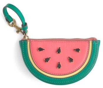 J.crew Leather Watermelon Coin Purse - Pink