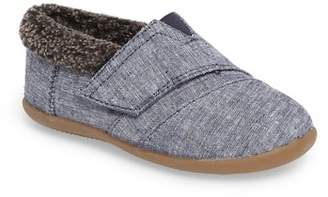 Toms Tiny Faux Fur Lined House Slipper (Toddler & Little Kid)