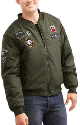 Generic Men's Bomber jacket with Patches, Up to 3XL