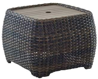 Pottery Barn Abrego All-Weather Wicker Rectangular Storage Umbrella Stand Accent Table