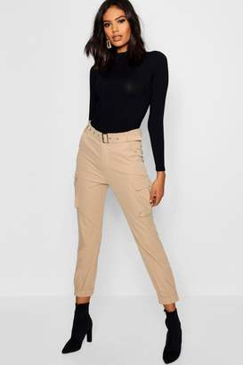 boohoo Belted Cargo Trouser