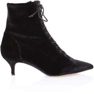 Tabitha Simmons Emmet Black Velvet Lace-Up Boot