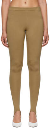 Joseph Beige Transparent Merino Stirrup Leggings