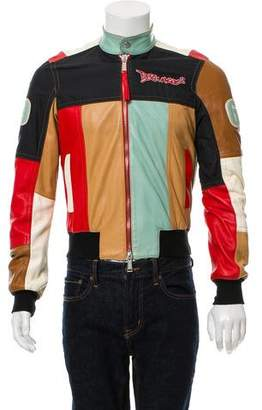 DSQUARED2 Leather Patchwork Jacket
