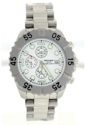 Beuchat Abyss Stainless Steel With White Dial Chronograph 42mm Mens Watch