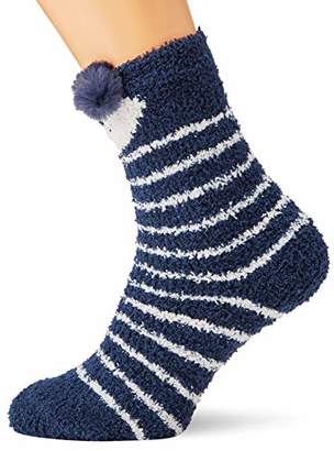 Fat Face Women's Fluffy Owl Socks