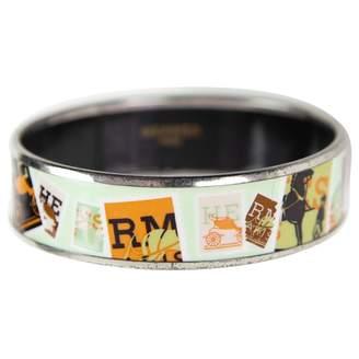 Hermes Bracelet Email Green Metal Bracelets