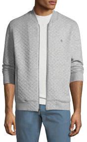 Men's Diamond-Quilted Zip-Front Bomber Jacket