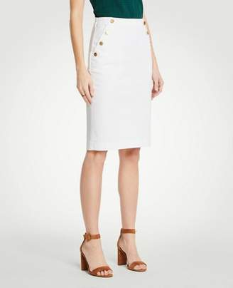 Ann Taylor Petite Denim Sailor Skirt