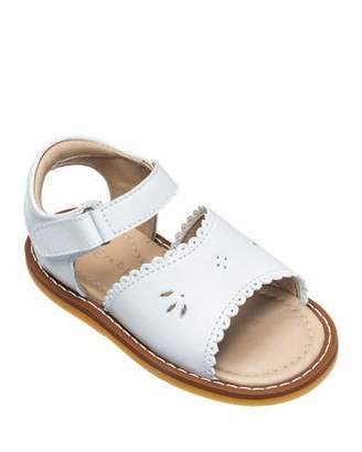 Elephantito Girls' Classic Leather Scalloped Sandal, Toddler/Kids