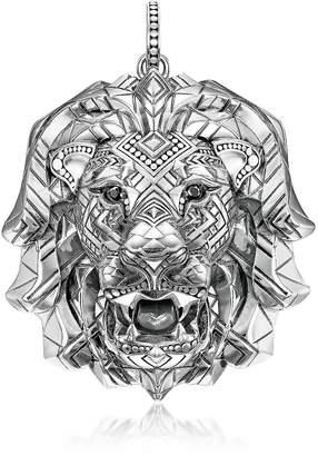 Thomas Sabo 925 Sterling Silver Lion Pendant w/Black Zirconia