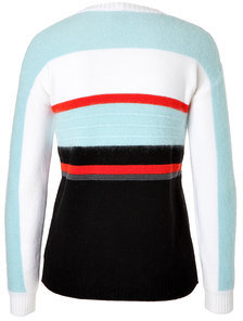 IcebergIceberg Wool/Mohair Striped Pullover with Applique