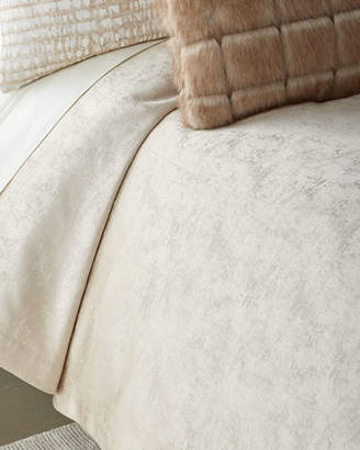 Fino Lino Linen & Lace Shimmer Flax King Coverlet