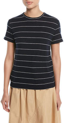 Vince Skinny-Striped Short-Sleeve Cotton Tee