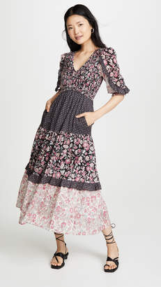 Rebecca Taylor Long Sleeve Print Dress